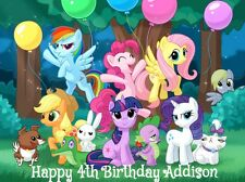 MY LITTLE PONY Edible Cake Image Decoration Topper Birthday Party favor friends