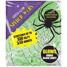 HALLOWEEN riesiges Spinnennetz glüht bei Schwarzlicht!  Innen und Außen Deko