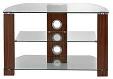 SUPPORTO TV Vetro Trasparente/NOCE fino a 40 in (ca. 101.60 cm) - AVS-L630-800/3WC