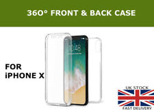 360° Front And Back Slim TPU Clear Gel Full Cover Case For new Apple iPhone X