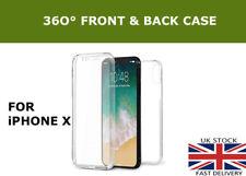 360 ° Frente Y Espalda Delgado Gel TPU claro Completo Cubierta Estuche Para Nuevo Apple iPhone X