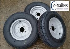 "BARGAIN-145x10 4ply TRAILER TYRES ON 4 Stud 4"" (MINI) PCD WHEELS -375kg each x 3"
