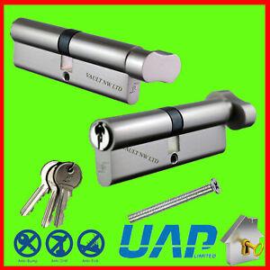 Euro Cylinder Lock Thumb Turn Barrel Door Lock uPVC PVC -Anti Drill, Bump, Pick