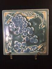 "Rookwood Pottery Grapes Trivet Tile ""1919"""