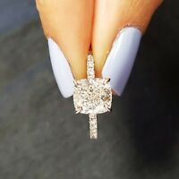 2.00Ct  Cushion Excellent Cut Diamond Solitaire Engagement Ring 14KWG H,VS2 GIA