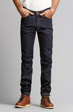 Levis Vintage LVC Blue Raw Rigid 1969 606 Zip Fly Tapered Jeans W34 £195 NEW USA