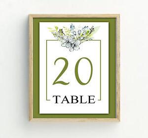 Darling Souvenir Floral Frame Corner Table Numbers Table Card Decor-DS-JSTN68