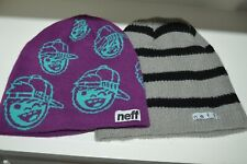 NEFF LOT of 2 Beanie Knit Winter Cap Hat Adult Mens