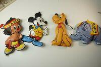 4 Kaba Figuren zum Aufblasen aus den 60er Jahren dicht Werbung Disney  W-2128