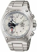 Casio Men's Stainless Steel Edifice Quartz Chrono White Patterned Dial EF537D-7A