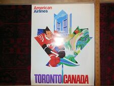 Vintage American Airlines Poster TORONTO CANADA  15 x 20 Inches
