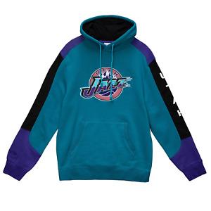 Mitchell & Ness Teal NBA Utah Jazz Fusion Fleece Hoodie