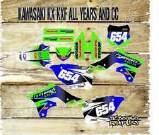 KAWASAKI KX KXF 65 85 125 250 450 Motocross Completo De Gráficos Pegatinas-Calcomanías-Pro