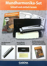 Cascha Mundharmonika Set + Etui + Lehrbuch mit QR-Code