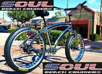 Fat Tire Beach Cruiser Bike - SOUL STOMPER - Chrome finish 3 speed - NEW!!
