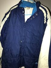 Vntg 90s Adidas Puffy Jacket Vest Detachable Sleeves Spell Out Logo Xl Hip Hop