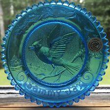 Blue Jay Bird Sammy Jay Thornton Burgess Pairpoint Glass Cup Plate Window Decor