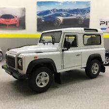 Land Rover Defender White 1:24 Scale Die-Cast Model Car