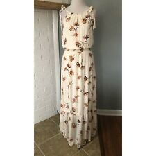 Maurices XS Cream Floral Sleeveless Maxi Dress