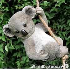 More details for large rope tree hanging koala novelty garden ornament sculpture figurine statue