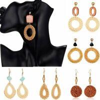 Charm Women Geometric Bamboo vine Circle Hook Drop Dangle Earrings Jewelry Gift