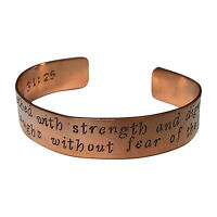 Proverbs 31:25 Cuff Bracelet - She Is Clothed With Strength And Dignity...