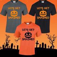 LET'S GET SMASHED UNISEX T-SHIRT HALLOWEEN COSTUME SCARY WITCHES TOP FANCY DRESS