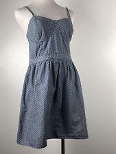 Mossimo Dress Chambray Denim Blue Jean Summer Dress Large Polka Dot