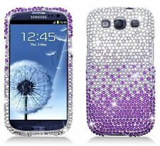 Bling Rhinestone Protector Case for Samsung Galaxy S3 i9300 - Waterfall Purple