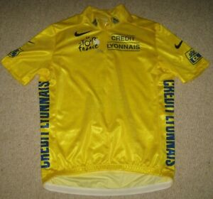TOUR DE FRANCE 2004 NIKE YELLOW LEADERS CYCLING JERSEY [Small] BNW/OT