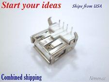 5 Pcs USB Type A Female Socket 4-Pin 90 Degree DIP Jack Connector