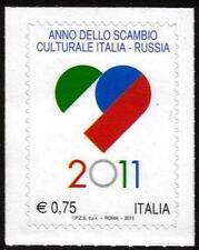 ITALIA MNH 2011 ITALIANO lingua e cultura in Russia-Autoadesivo