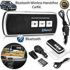 WIRELESS BLUETOOTH HANDSFREE CAR KIT SPEAKER PHONE SUN VISOR CLIP CAR CHARGER