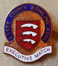 Old  Bowling Club Association enamel badge - Essex County. Executive match.