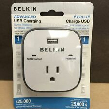 Belkin Surge Protector With USB Charger 1 Outlets 1 USB Charging Ports 900J