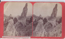 1880s THURLOW STEREOVIEW MANITOU CO TOWER OF PISA GLEN EYRIE
