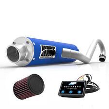 HMF Performance Full System Exhaust Pipe Muffler Blue EFI Optimizer K&N YFZ 450R