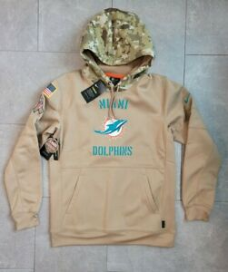 Nike Therma NFL Miami Dolphins Salute to Service Hoodie AT6737-297 Men's MEDIUM