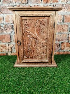 Wooden Carved rustic Keys Box/cabinet