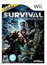 Cabela's Survival Shadows of Katmai WII NEW HUNT BEARS  WOLVES ALASKA New SEALED