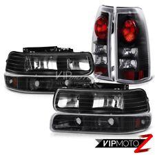1999-2002 Chevy Silverado 1500 2500 Black Headlights Bumper Signal Tail Lights