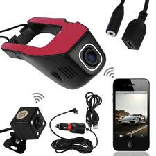 1080P HD Wifi Car Hidden DVR Video Recorder Dash Cam G-sensor + Rear Camera