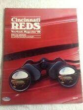 1982 CINCINNATI REDS Yearbook Mag.  W/RARE 18 Card Sheet TOM SEAVER/JOHNNY BENCH