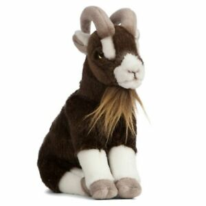 """Brown Goat soft plush toy 9""""/22cm by Living Nature NEW"""