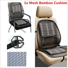1xBlack Mesh Bamboo Lumbar Back Brace Support Office Home Car Seat Chair Cushion