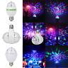 E27 3W RGB LED Bulb Rotating Crystal Magic Ball Stage Party Disco KTV Bar Lights