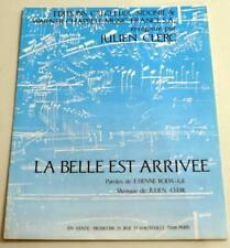 Partition sheet music JULIEN CLERC : La Belle est Arrivée * 90's RODA-GIL