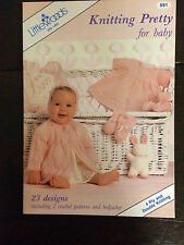 Littlewoods Knitting & Crochet Pattern:  Kniting Prety for baby, 4ply/DK, 591