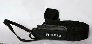 Fujifilm grey camera strap.