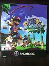 Nintendo Gamecube Super Mario Sunshine Store Display Sign Sticker Cling Poster